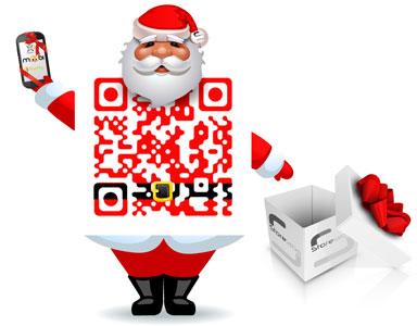 Storelabs.com: código QR con creativo STL Santa Claus