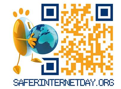 Storelabs.com: código QR con logo Safe Internet
